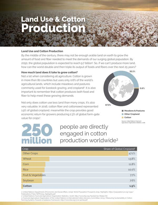 View Land Use & Cotton Production Document